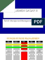 Manajemen Dasar II