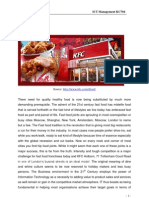 Research on Fast Food Joints (KFC)