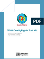 Who QualityRights Toolkit Docket 2012