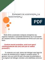 Expnoneţi de aciditate(pka) ş