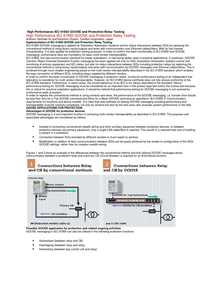 High Performance Iec 61850 Goose And Protection Relay Testing Used In Circuit Breaker Computer Network