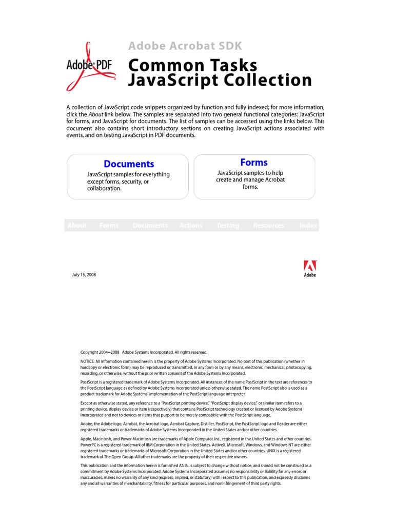 Js Collection | Java Script | Portable Document Format