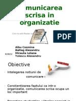 Comunicarea Scrisa in Organizatie