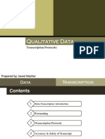 Data Transcription Protocols