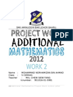 96134490 Additional Mathematics Project Work 2 2012 Johor