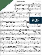Mad - Neyo Piano Sheet Music