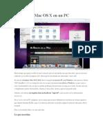 Virtualizar Mac OS X en Un PC