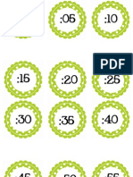 CIRCLE POLKA DOT Numbers by 5 for Clock Lime Green