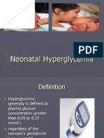 Neonatal Hyperglycemia