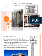 The Three Classical Orders of Greek Architecture