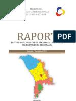 Raport privind implementarea Strategiei naţionale de dezvoltare regională anul 2011