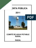 CUENTA PÚBLICA 2011 APR RADAL