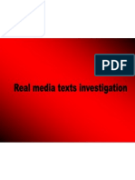 Real Media Texts Investigation