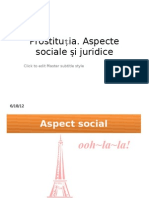 Prostitutia, Aspecte Sociale si Juridice.