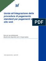 Guida all'integrazione della procedura di pagamento standard per pagamenti su sito web