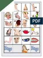 Bingo -- Partes del cuerpo