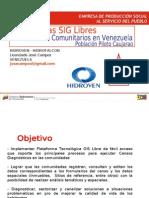 SIG Censos Comunitarios en Venezuela