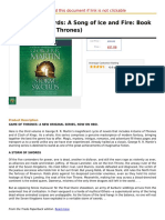 A Storm of Swords a Song of Ice and Fire Book Three (Game of Thrones)