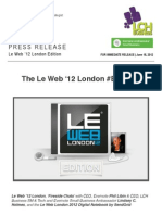 The Le Web '12 London #BuzzRoll feat. @Evernote @SendGrid #LeWeb