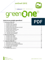 Catalogue NOTOX greenOne® 2012