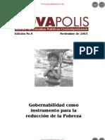 Gobernabilidad como instrumento para la reducción de la Pobreza - Edición No. 5 de Noviembre de 2003 - NovaPolis - REVISTA DE ESTUDIOS POLÍTICOS CONTEMPORÁNEOS