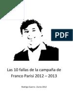 10 Fallas campaña Franco Parisi
