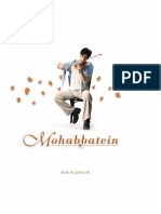 Mohabbatein Violin Sheet Music