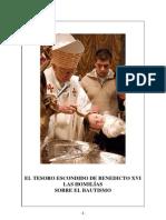 El tesoro escondido de Benedicto XVI. Las homilías sobre el bautismo.