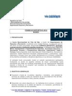 Bases Para Fondeve Deportivo 2012