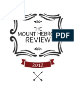 Mount Hebron Literary Review 2012