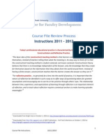 Instructions for Course Files 2011 2012