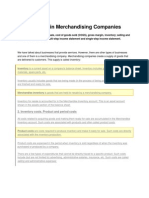 Accounting in Merchandising Companies