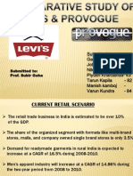 A COMPARATIVE STUDY OF LEVI'S & PROVOGUE