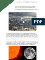 O Sol e a Lua Podem Gerar Terremotos - Perguntas e Respostas