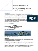 Shimano Nexus 7 Complete Assembly Manual