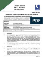 CAA - To Upload SafetyNotice2012007