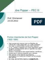 Aula Sobre Popper -- PEC III