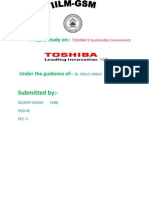 Sustainable Development of 'Toshiba'