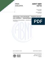 ABNT NBR 10719-2011 Relatório