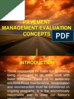 1- Pavement Managementevaluationconcepts