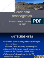 Carcinoma broncogénico - protocolo