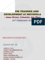1st Group Seminar PPT- Employee Training and Development at Motorola