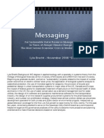 Messaging For Sustainable Water Resource Management