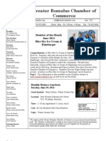 Greater Romulus Chamber of Commerce June 2012 Newsletter