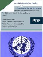 ONU – Organização das Nações Unidas