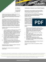 Tax Alert - Ley Orgánica de Bienes Públicos