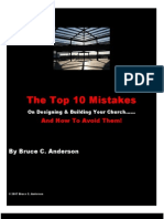 Top 10 Mistakes Pastors Make In Designing Their Church