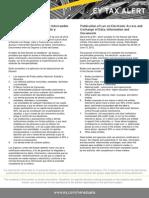 Tax  Alert - Ley para el acceso e intercambio electrónico de datos, información y documentos