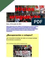 Noticias Uruguayas Lunes 18 de Junio 2012