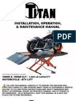Titan SDML 1000D Motorcycle Lift Manual